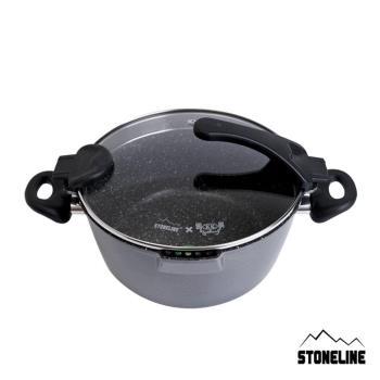 STONELINE未來系列不沾湯鍋24cm(附蓋)