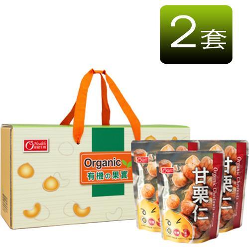 【有機園】有機果實甘栗6入禮盒(2套組)