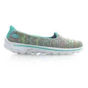 【SKECHERS】GO WALK 2 女休閒健走鞋 休閒鞋 運動鞋 走路鞋 綠白