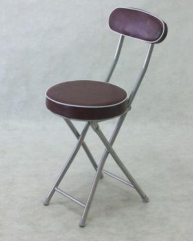 BROTHER 兄弟牌丹堤有背折疊椅(咖啡色)~PU加厚座墊設計,4張/箱~家居休閒必備