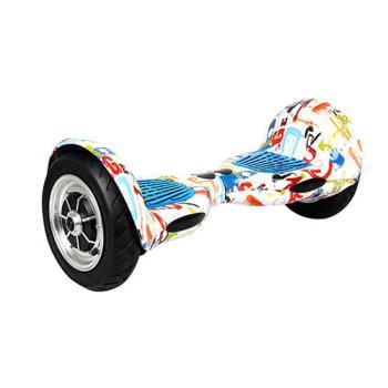 【IS愛思】塗鴉白 10吋無敵飛速四代大輪體感電動平衡車