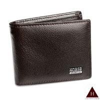 【H-CT】HORSE系列深咖啡零錢袋款真皮短夾(SE089-B02-Z)
