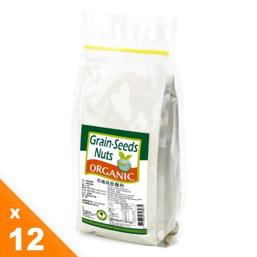 【有機園】有機高筋麵粉12包量販組