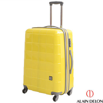 ALAIN DELON ~ 亞蘭德倫 25吋 時尚方格系列旅行箱(黃)