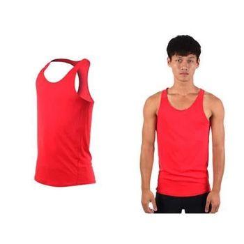【HODARLA】男女挖背背心 輕量 抗UV 0秒吸濕排汗 無袖 台灣製 紅