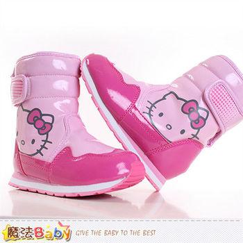 魔法Baby~女童靴 Hello kitty授權正品亮面長筒靴~sh8954