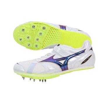 【MIZUNO】FIELD GEO LJ 男女田徑釘鞋 跳遠日本製 螢光黃白