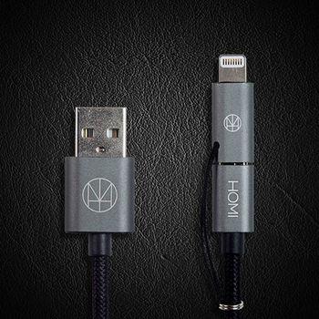 HOMI MFI蘋果認證 Lightning Micro USB to USB Cable 傳輸充電線