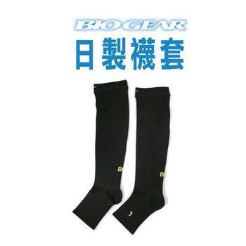 【MIZUNO】日本製-BG 男襪套-慢跑 襪子 美津濃 黑芥末綠