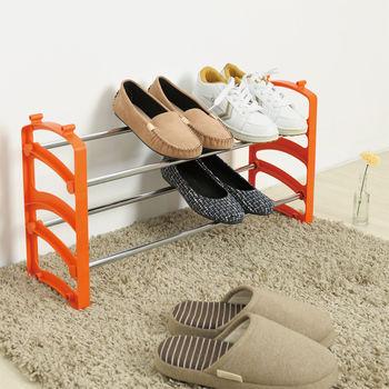 IKLOO宜酷屋_日系可疊式鞋架(果澄橘)買一送一