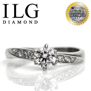ILG鑽-頂級八心八箭擬真鑽石戒指-甜心魅力款 主鑽約50分-RI003 時尚魅力女朋友最愛