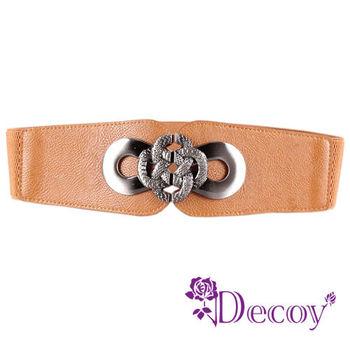 【Decoy】蛇紋纏繞*金屬弧形腰封/三色可選
