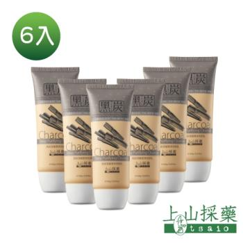 Tsaio上山採藥  黑炭深層潔淨洗顏乳100g 6入組