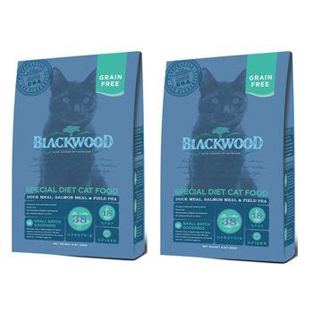 【Blackwood】柏萊富 特調無穀全齡貓配方(鴨肉+鮭魚+碗豆) 4磅 X 2包