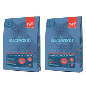 【Blackwood】柏萊富 特調無穀全齡貓配方(雞肉+碗豆) 4磅 X 2包