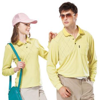 【SPAR】吸濕排汗男版長袖POLO衫(SP59531)檸檬黃色