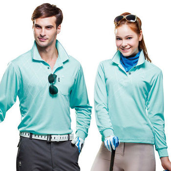 【SPAR】吸濕排汗男版長袖POLO衫(SP59532)湖水藍色
