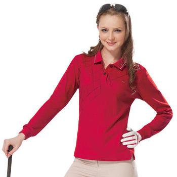 【SPAR】吸濕排汗女版長袖POLO衫(SP77534)紅色