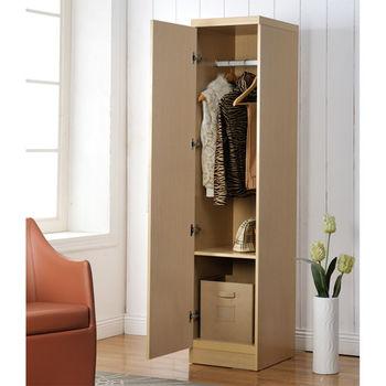 【咱的厝】時尚單門衣櫃/櫥櫃 (白橡色)