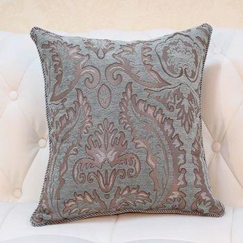藍綠色歐式床頭沙發靠背大靠墊含芯
