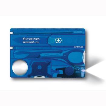 VICTORINOX 瑞士維氏透明13用名片型瑞士燈刀-藍 07322.T2