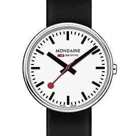 MONDAINE 瑞士國鐵MINI GIANT小巨人腕錶/35mm-黑錶帶 (76311)