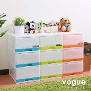【vogue】采漾3 層抽屜式整理箱 (三色可選)