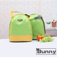 【Bunny】韓版攜帶式手提加厚午餐袋購物袋便當袋保溫袋