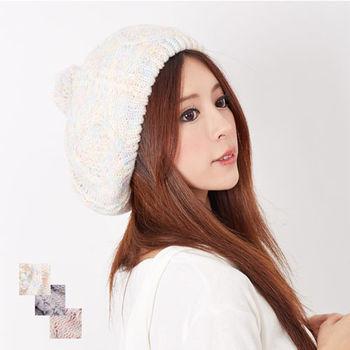 【MIT台灣製】發熱雙層內裡 毛球貝蕾帽毛帽毛線針織帽(3色)