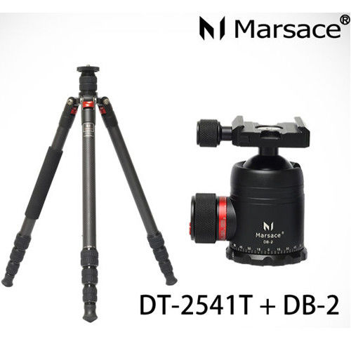 Marsace 瑪瑟士 DT-2541T+DB2雲台 2號腳 碳纖維 三腳架 套組(DT2541T,公司貨)