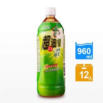 古道 超の油切綠茶-無糖960ml x12瓶