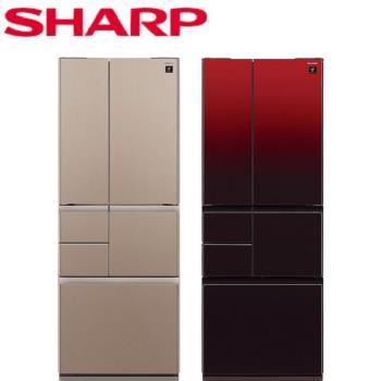 送五月天演唱會票★SHARP台灣夏普501L六門變頻極鮮大冷凍庫冰箱SJ-GT50BT-T