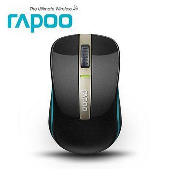 【Rapoo 雷柏 】6610 2.4G藍牙雙模無線光學滑鼠(黑/金)