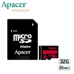 Apacer宇瞻 32GB MicroSDHC UHS-I Class10記憶卡(85MB/s)