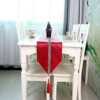 【協貿】奢華現代中國風簡約幾何花紋餐桌旗
