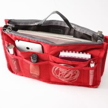 【lapagayo】雙拉鍊輕防水立體收納手提包中袋-預購