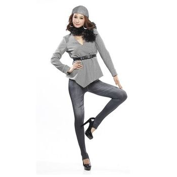 德國JS羊絨織4度曲線矯正褲(顯瘦褲*4)