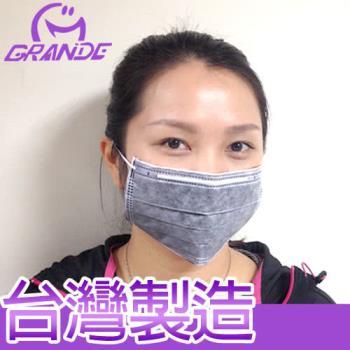 台灣製 成人四層式 95%過濾防塵微粒活性碳 SGS認證口罩(50片/盒x5)