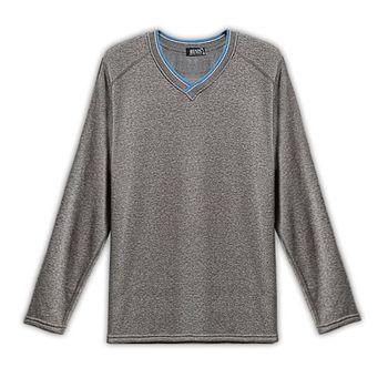 【HENIS】速暖絨色織配色V領衫3件組-型(網)