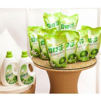 奇檬子 天然檸檬生態濃縮洗衣精2罐x2000ml+8包x2000ml