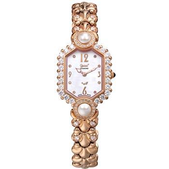 【瑞士愛其華 Ogival】凡爾賽宮廷珍珠璀燦真鑽錶 380-07DLR