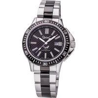 Ogival 瑞士愛其華-夜鷹系列氚氣燈管潛水造型腕錶(俐落黑)8003TMSB