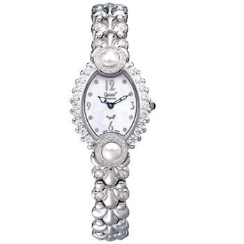 【瑞士愛其華 Ogival】凡爾賽宮廷珍珠璀燦真鑽錶 380-06DLW