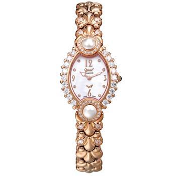 【瑞士愛其華 Ogival】凡爾賽宮廷珍珠璀燦真鑽錶 380-06DLR