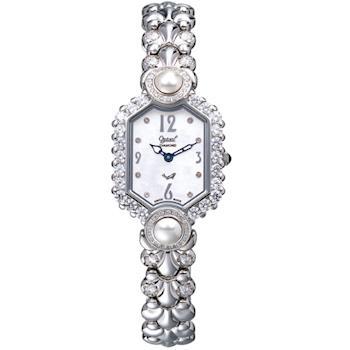 【瑞士愛其華 Ogival】凡爾賽宮廷珍珠璀燦真鑽錶 380-07DLW