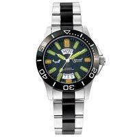 瑞士愛其華( Ogival )經典陶瓷氚氣燈管自動機械錶(黑面)827ATMSB