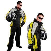 【東伸】一級方程式賽車型兩件式風雨衣-黃色-行動