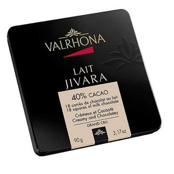 VALRHONA 40%Jivara吉瓦納牛奶巧克力18片鐵盒-行動