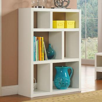 【咱的厝】創意六格展示櫃/書櫃/收納櫃/隔間櫃(白色)