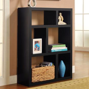 【咱的厝】創意六格展示櫃/書櫃/收納櫃/隔間櫃(黑色)